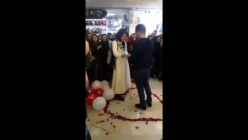 Young Iranian couple arrested after marriage proposal in public goes viral