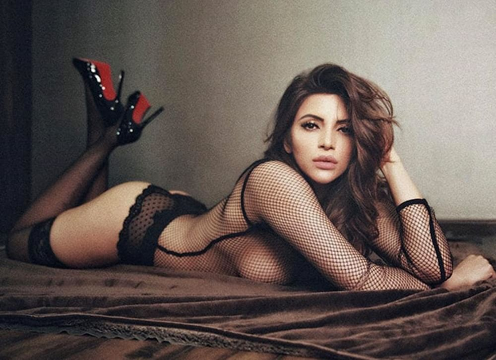 Shama Sikander goes topless in a super sexy black monokini