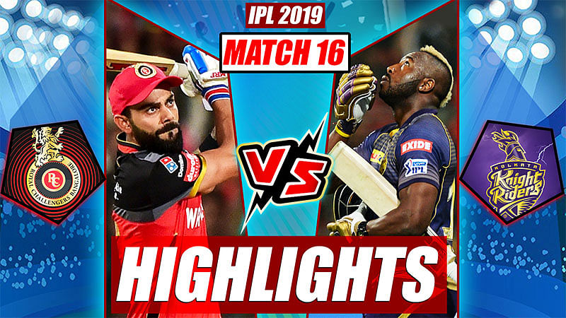 RCB vs KKR Highlights, IPL 2019 Match 17 | Match Turning Points, Russell Super Six
