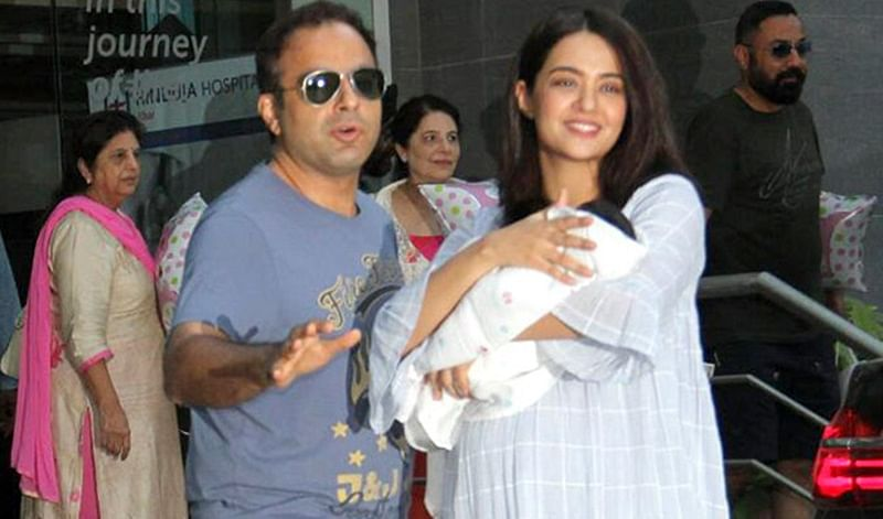 Sacred Games actress Surveen Chawla is all smiles while bringing daughter Eva home