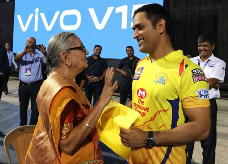 Fan-time! MS Dhoni meets old female fan at Wankhede stadium, gifts her signed T-shirt; check out photos