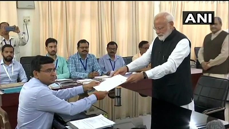 Narendra Modi files his nomination; Amit Shah, Nitish Kumar accompany PM