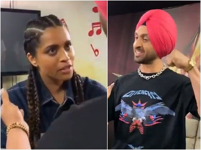 Watch Video: Diljit Dosanjh and Lilly Singh bond over Punjabi roots