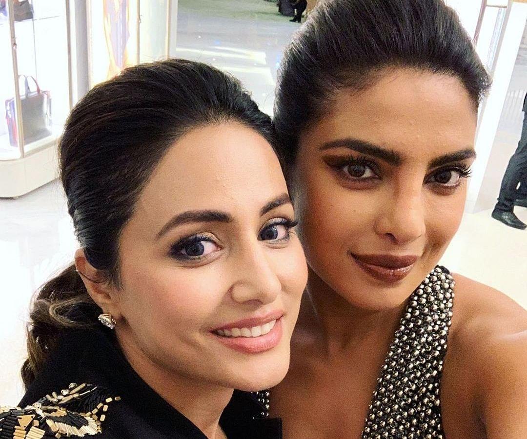 "Hina Khan praises Priyanka Chopra calls her ""a walking inspiration"""