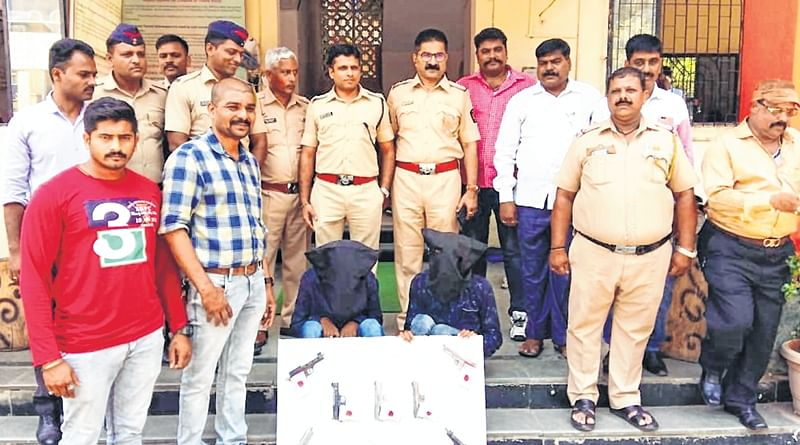 Bhayandar: Believed to be criminals from Madhya Pradesh, held duo found carrying seven pistols, two bullets