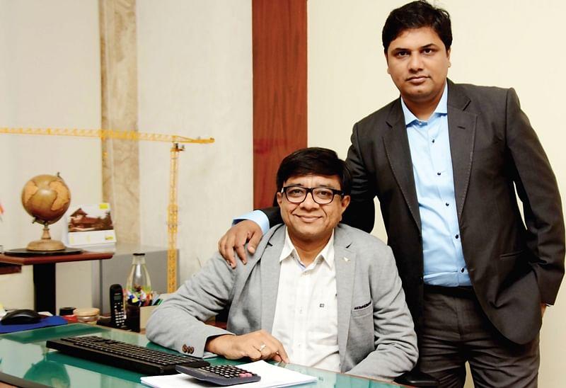 Manish Patel (L), Managing Director and Tarak Gor (R), Director of Generic Engineering Company at their Vikroli office