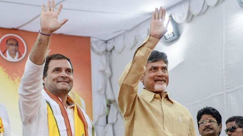 Seeking support for non-BJP govt at Centre, Chandrababu Naidu holds 2nd round of talks with Rahul Gandhi, Sharad Pawar