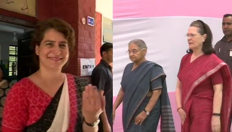Lok Sabha elections 2019: Sonia Gandhi, daughter Priyanka cast their votes in Delhi