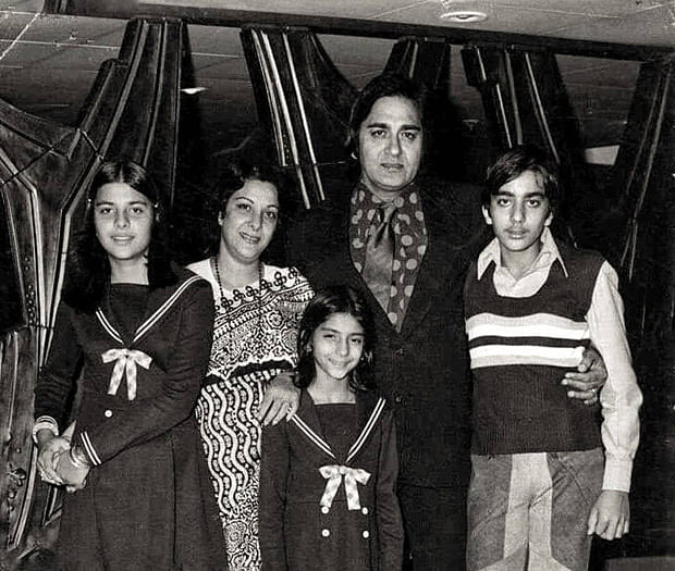 Sanjay Dutt shares a throwback picture from his childhood days with the 'pillars' of his family