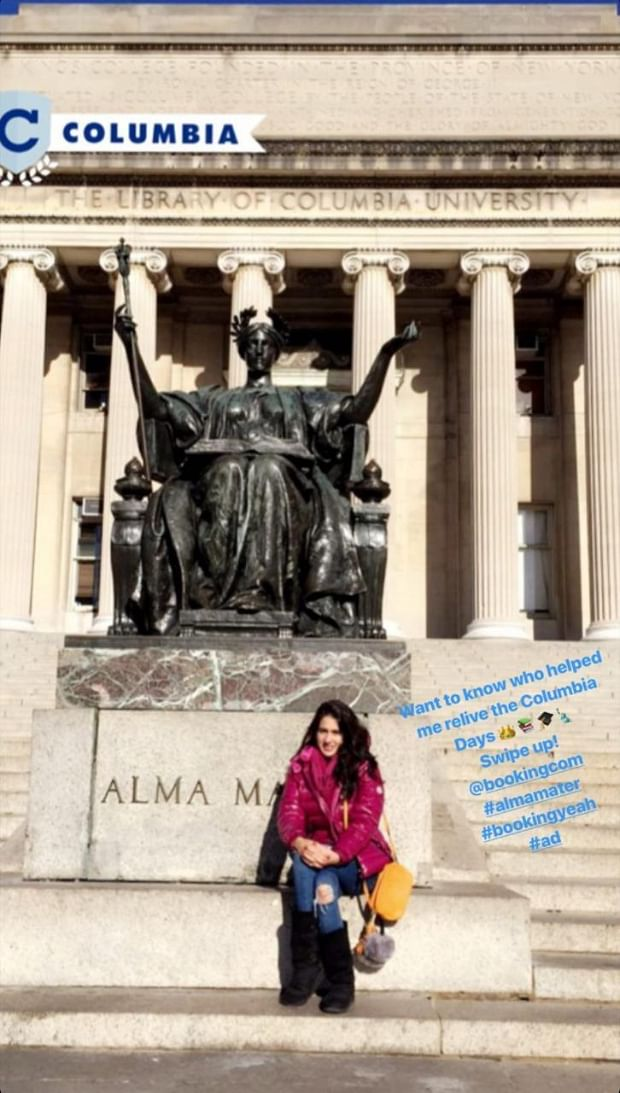 Sara Ali Khan shares a throwback picture from her college days