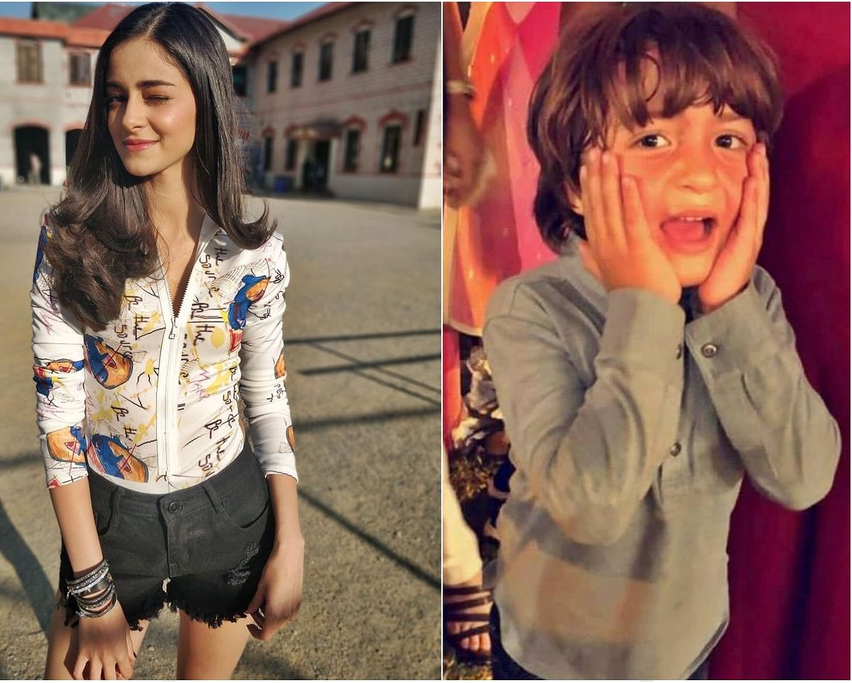 Shah Rukh Khan's baby boy AbRam shocked with Ananya Pandey's unusual talent; watch video