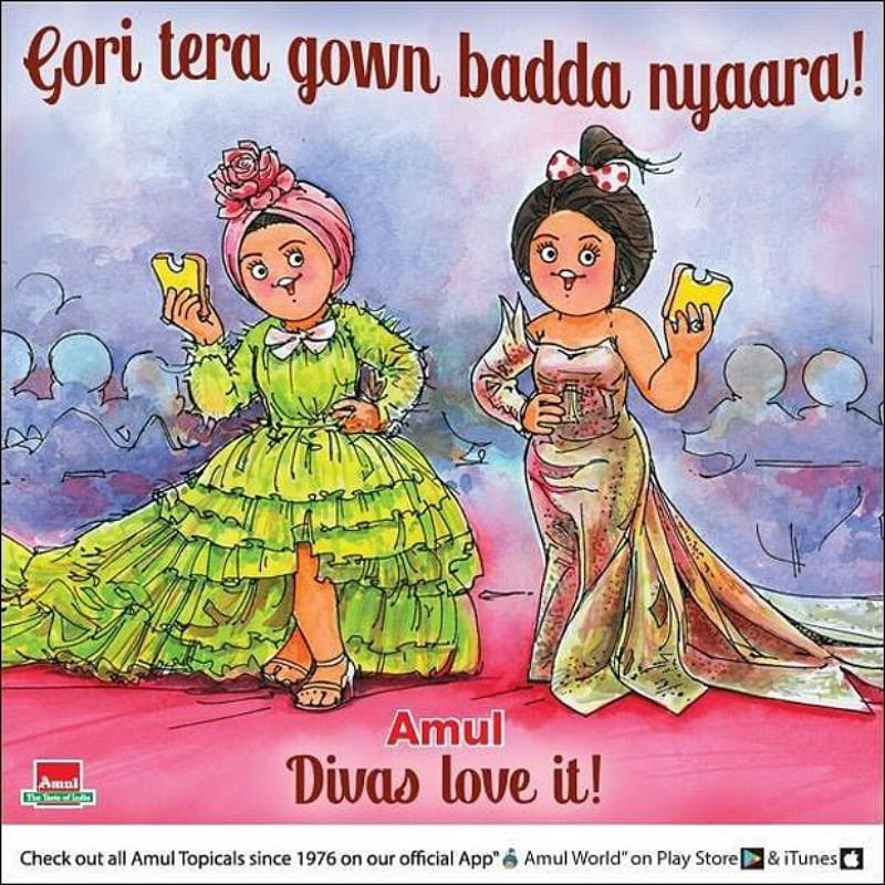 Amul shows off Deepika Padukone and Aishwarya Rai Bachchan dazzling in style on its latest poster